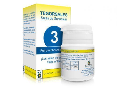 Biosales Nº 3 Ferrum Phosporicum 350 comprimidos Tegor