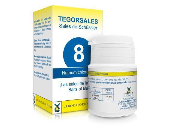 Biosales Nº 8 Natrium Chloratum 350 comprimidos Tegor