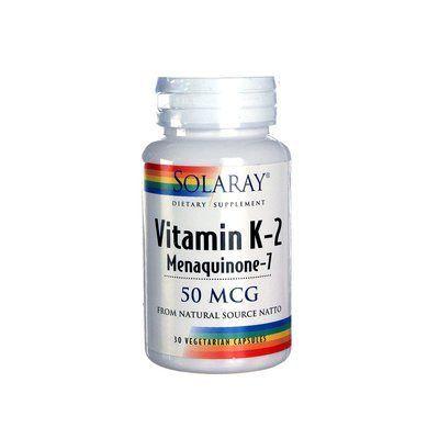 Vitamina K2 Menaquinone 7 30 cápsulas Solaray